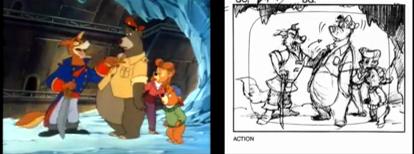 Porovnání seriálu a storyboardů