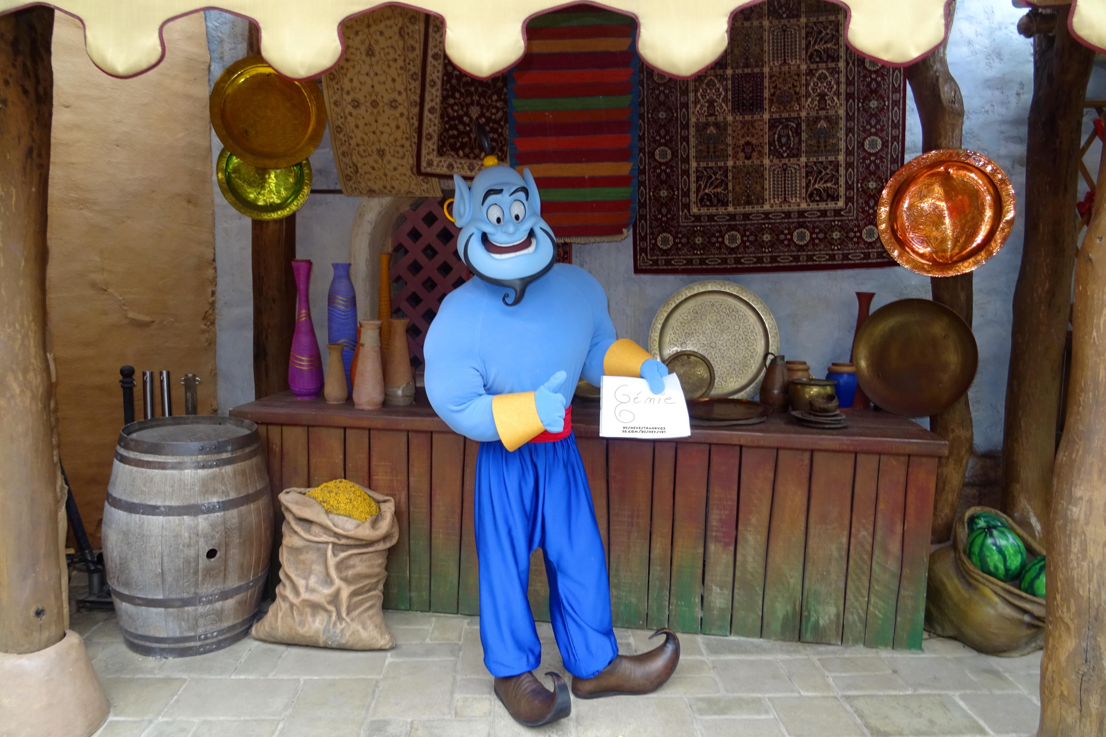 Džin posílá pozdrav českým Disney fanouškům